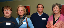 Picture of Parents and Student with Elizabeth Mador of Advancement
