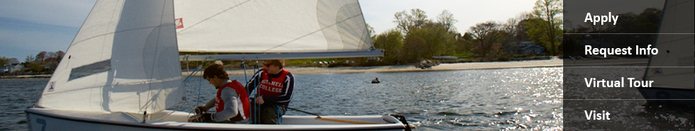 Students sailing on the Thames River